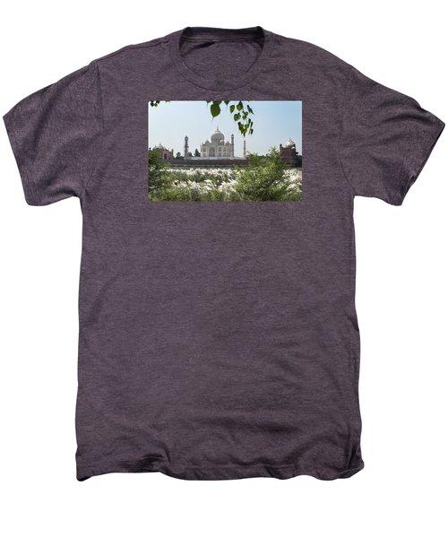 The Calm Behind The Taj Mahal Men's Premium T-Shirt