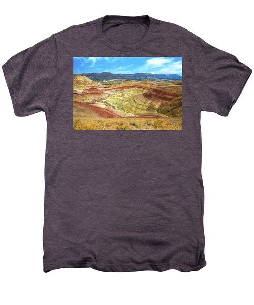 The Colorful Painted Hills In Eastern Oregon Men's Premium T-Shirt