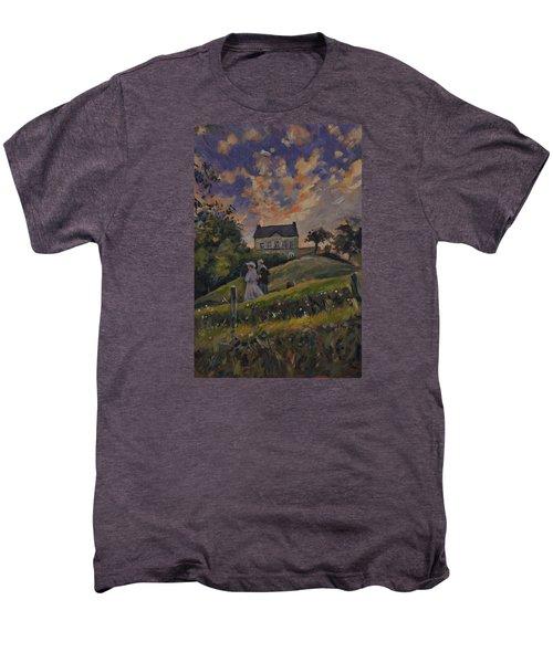 The Evening Stroll Around The Hoeve Zonneberg Men's Premium T-Shirt by Nop Briex