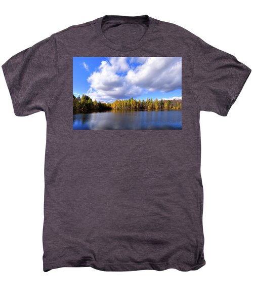 Men's Premium T-Shirt featuring the photograph The Golden Forest At Woodcraft by David Patterson