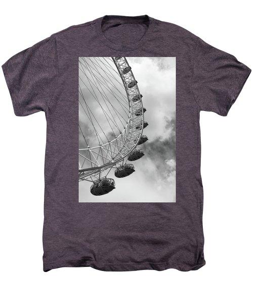 The London Eye, London, England Men's Premium T-Shirt by Richard Goodrich