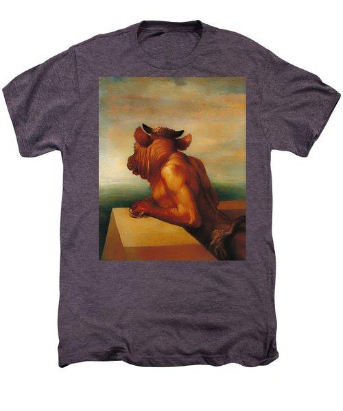 The Minotaur  Men's Premium T-Shirt by Mountain Dreams