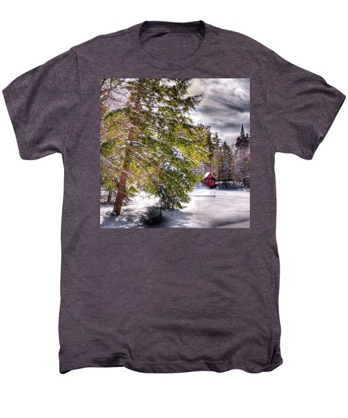 Men's Premium T-Shirt featuring the photograph The Secluded Boathouse by David Patterson