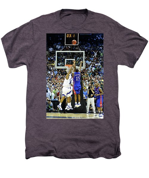 The Shot, 3.1 Seconds, Mario Chalmers Magic, Kansas Basketball 2008 Ncaa Championship Men's Premium T-Shirt by Thomas Pollart