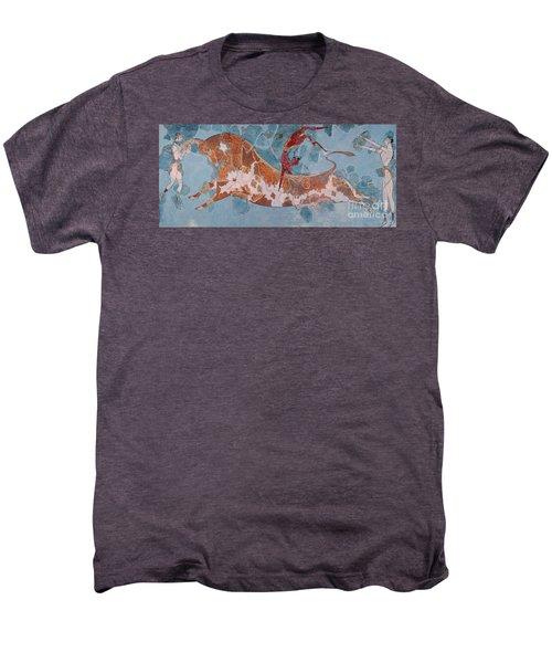 The Toreador Fresco, Knossos Palace, Crete Men's Premium T-Shirt by Greek School