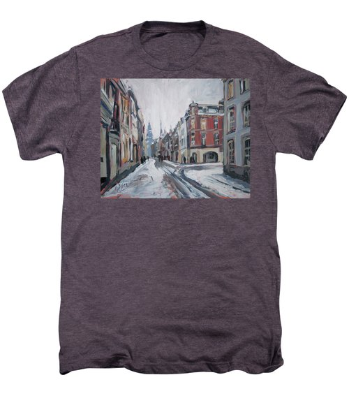 The White Grand Canal Street Maastricht Men's Premium T-Shirt by Nop Briex