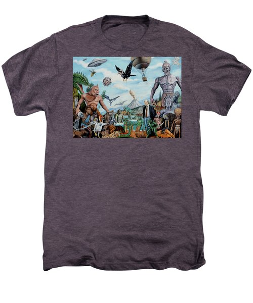 The World Of Ray Harryhausen Men's Premium T-Shirt by Tony Banos