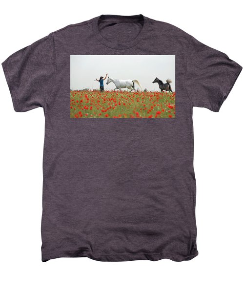 Three At The Poppies' Field Men's Premium T-Shirt