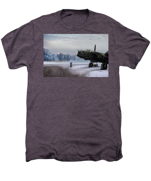 Men's Premium T-Shirt featuring the photograph Time To Go - Lancasters On Dispersal by Gary Eason