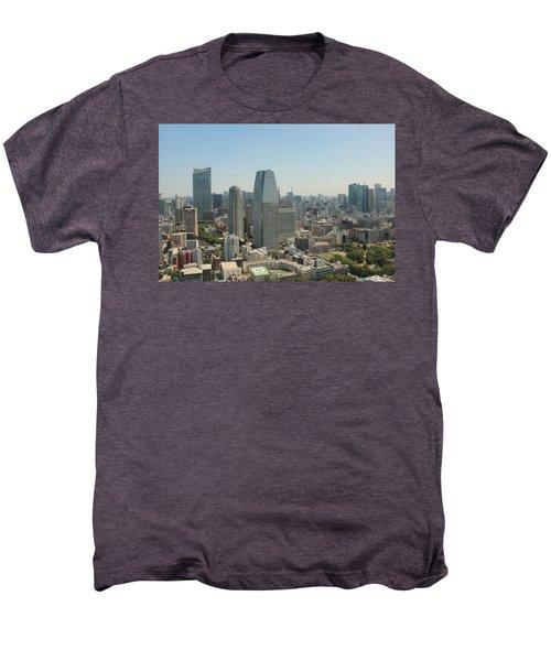 Tokyo Skyline Men's Premium T-Shirt by Jacob Reyes