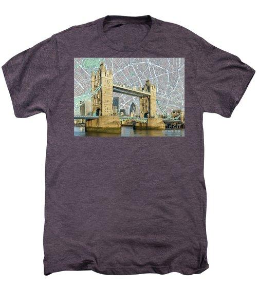Men's Premium T-Shirt featuring the digital art Tower Bridge by Adam Spencer