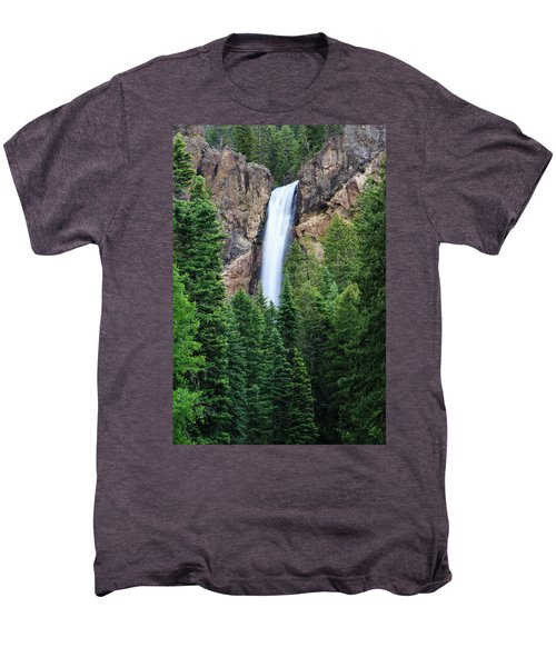 Men's Premium T-Shirt featuring the photograph Treasure Falls by David Chandler