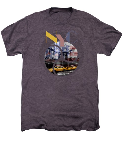 Trendy Design New York City Geometric Mix No 2 Men's Premium T-Shirt
