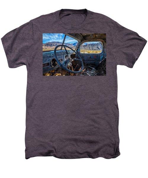 Truck Desert View Men's Premium T-Shirt by Peter Tellone
