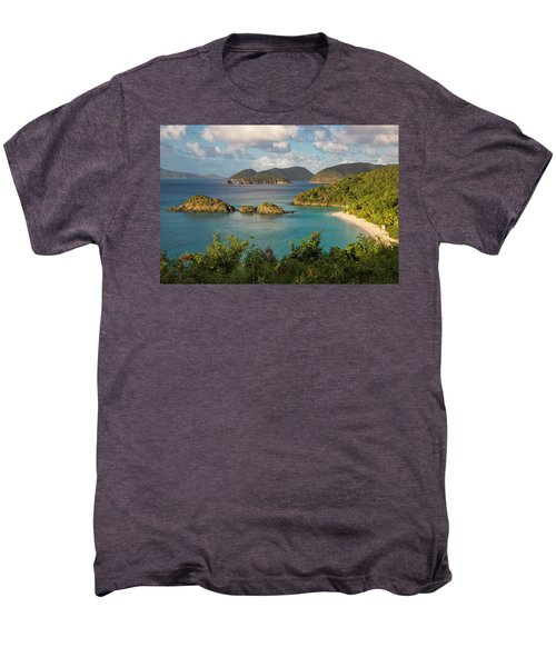 Men's Premium T-Shirt featuring the photograph Trunk Bay Morning by Adam Romanowicz