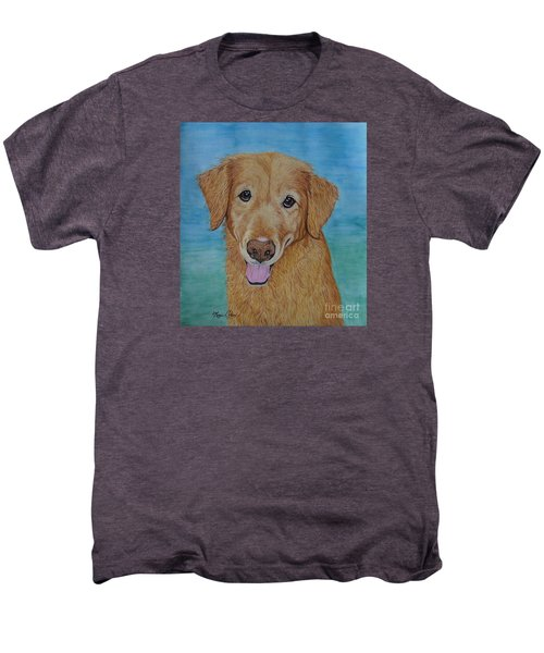 Tucker The Golden Retriever Men's Premium T-Shirt