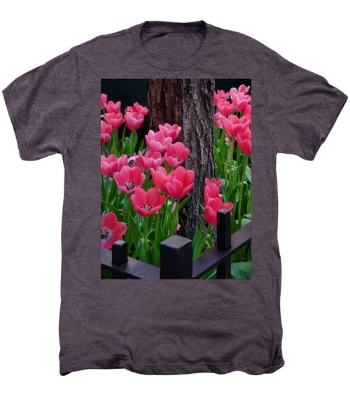 Tulips And Tree Men's Premium T-Shirt by Mike Nellums