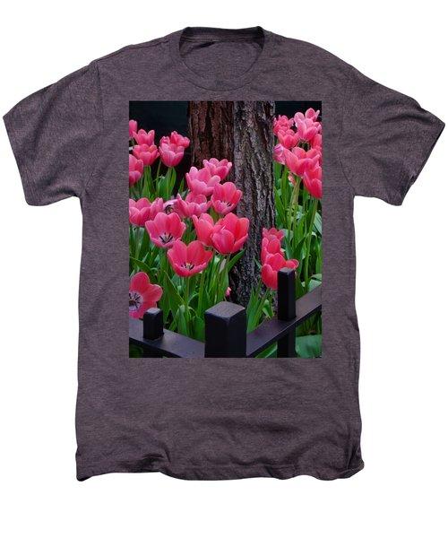 Tulips And Tree Men's Premium T-Shirt