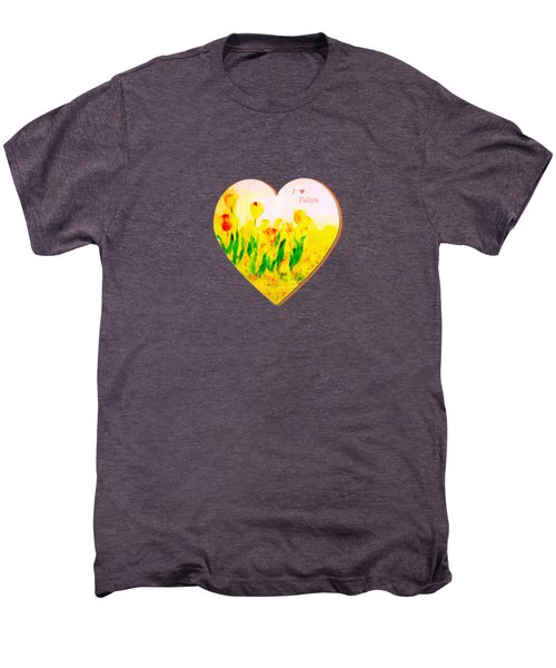 Tulips In Springtime Men's Premium T-Shirt