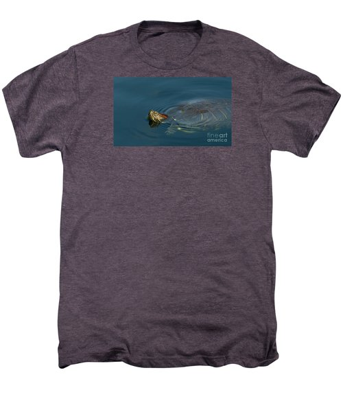 Turtle Floating In Calm Waters Men's Premium T-Shirt