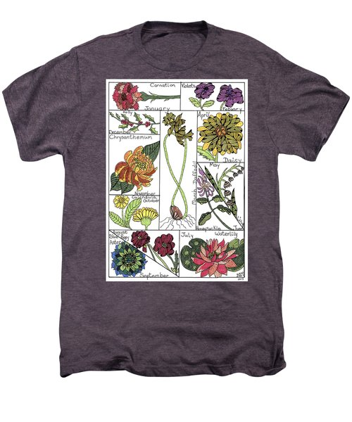 Twelve Month Flower Box Men's Premium T-Shirt