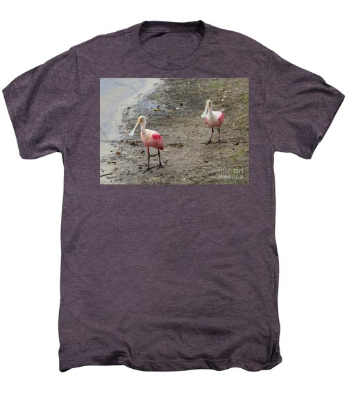 Two Roseate Spoonbills 2 Men's Premium T-Shirt by Carol Groenen