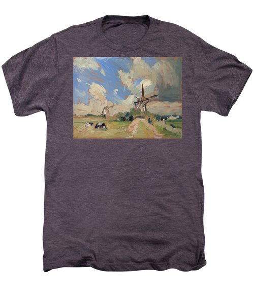 Two Windmills Men's Premium T-Shirt by Nop Briex