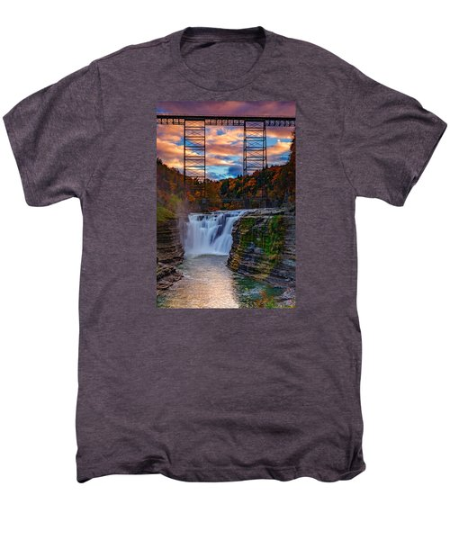 Upper Falls Letchworth State Park Men's Premium T-Shirt