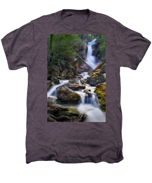 Men's Premium T-Shirt featuring the photograph Upper Race Brook Falls 2017 by Bill Wakeley