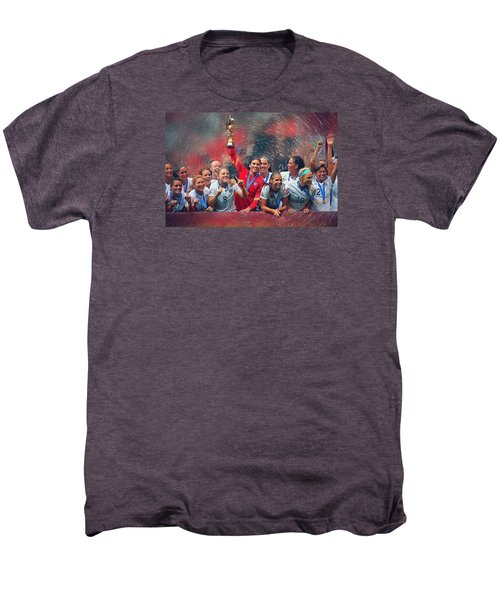Us Women's Soccer Men's Premium T-Shirt by Semih Yurdabak
