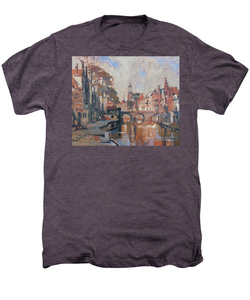 Utrecht Autumn Canal Men's Premium T-Shirt