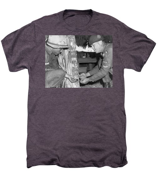 Viet Cong Booby Trap Men's Premium T-Shirt by Underwood Archives