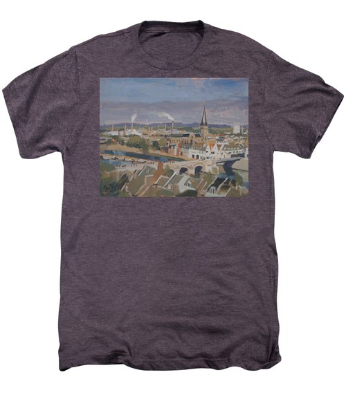 View To The East Bank Of Maastricht Men's Premium T-Shirt