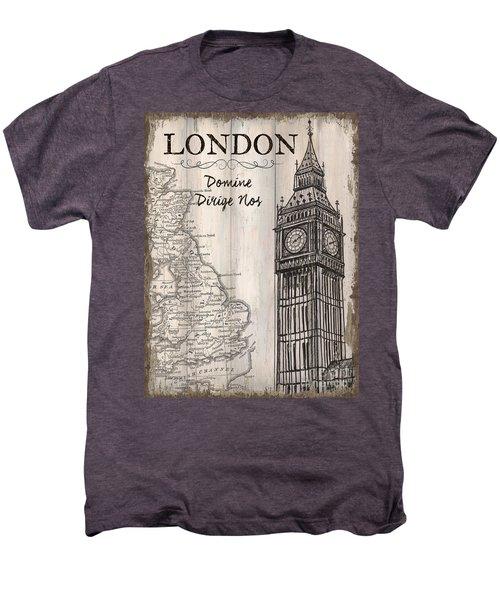 Vintage Travel Poster London Men's Premium T-Shirt