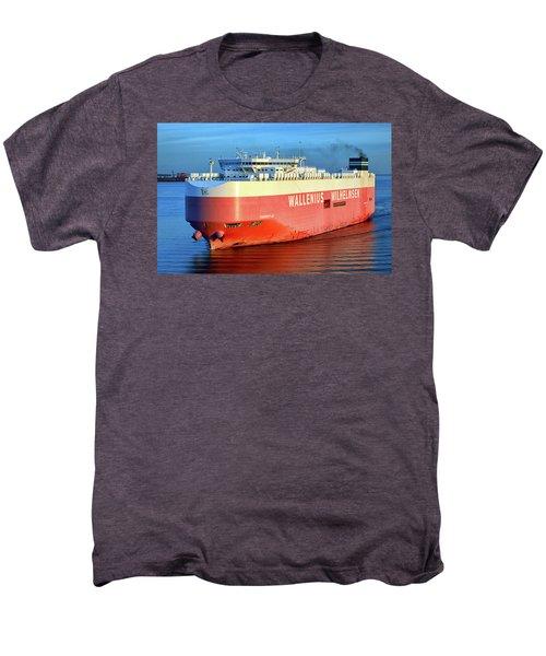 Men's Premium T-Shirt featuring the photograph Wallenius Wilhelmsen Thermopylae 9702443 On The Patapsco River by Bill Swartwout Fine Art Photography
