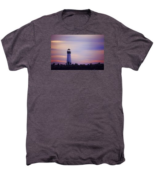Walton Lighthouse Men's Premium T-Shirt by Lora Lee Chapman