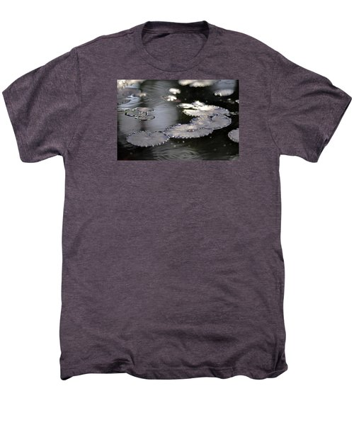 Men's Premium T-Shirt featuring the photograph Water And Leafs by Dubi Roman