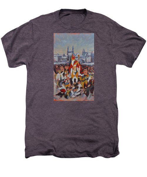 Welcoming Saint Nicolas In Maastricht Men's Premium T-Shirt by Nop Briex