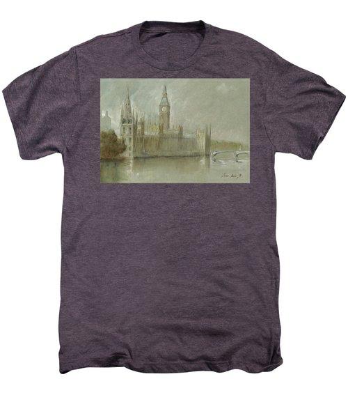 Westminster Palace And Big Ben London Men's Premium T-Shirt