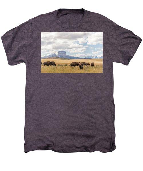 Where The Buffalo Roam Men's Premium T-Shirt