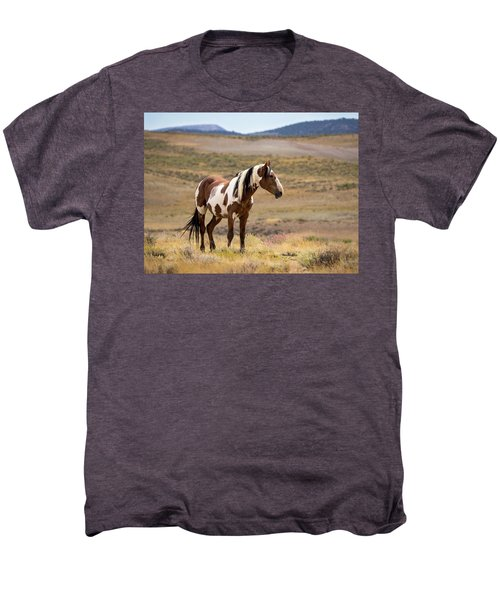 Wild Mustang Stallion Picasso Of Sand Wash Basin Men's Premium T-Shirt