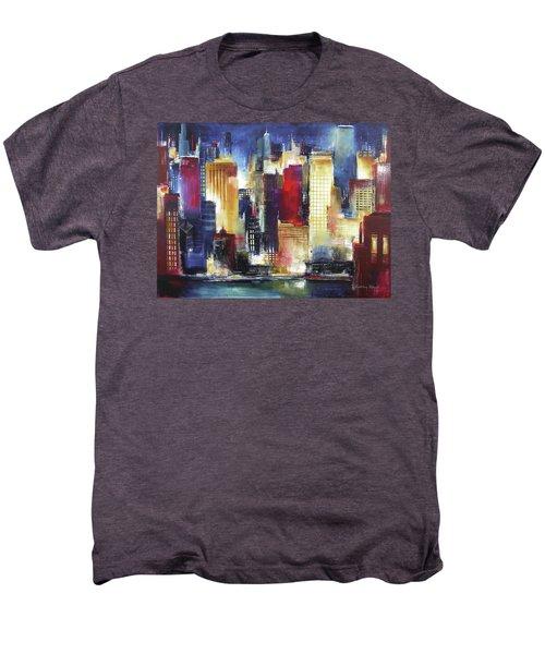 Windy City Nights Men's Premium T-Shirt