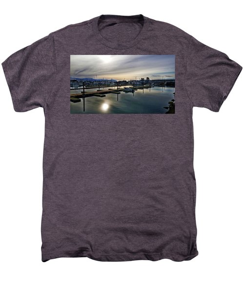 Winter Harbor Revisited #mobilephotography Men's Premium T-Shirt