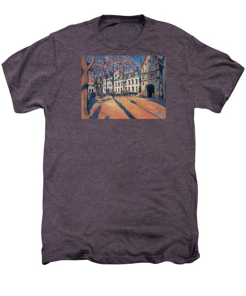 Winter Light At The Our Lady Square In Maastricht Men's Premium T-Shirt by Nop Briex