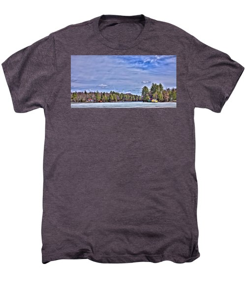 Men's Premium T-Shirt featuring the photograph Winter On The Pond by David Patterson