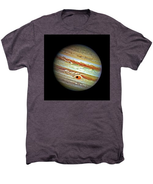 Men's Premium T-Shirt featuring the photograph Jupiter And Ganymead Shadow Outer Space Image by Bill Swartwout Fine Art Photography