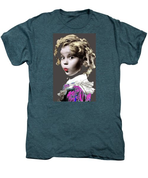 Shirley Temple Publicity Photo Circa 1935-2014 Men's Premium T-Shirt by David Lee Guss