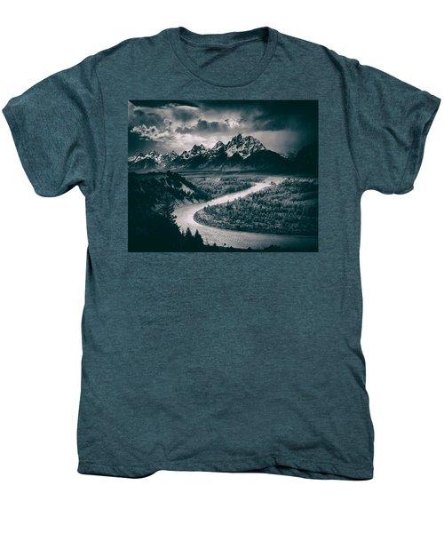 Snake River In The Tetons - 1930s Men's Premium T-Shirt