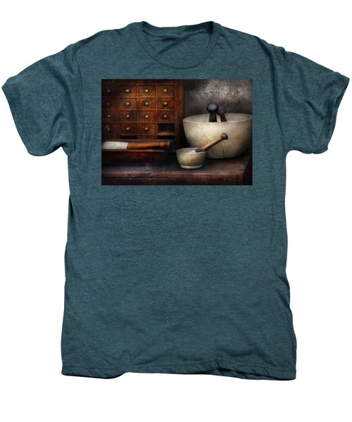 Apothecary - Pestle And Drawers Men's Premium T-Shirt