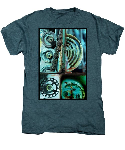 Circle Collage In Blue Men's Premium T-Shirt